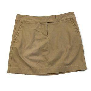 J.Crew Beige Tan Khaki Cotton Stretch Mini Skirt 2